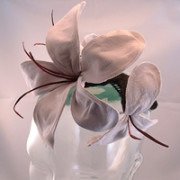 2015 Leather Flower Fascinator Hat
