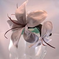 2015 Leather Flower Fascinator Hat