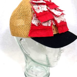 straw art cap