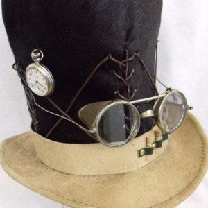 fur top hat steampunk