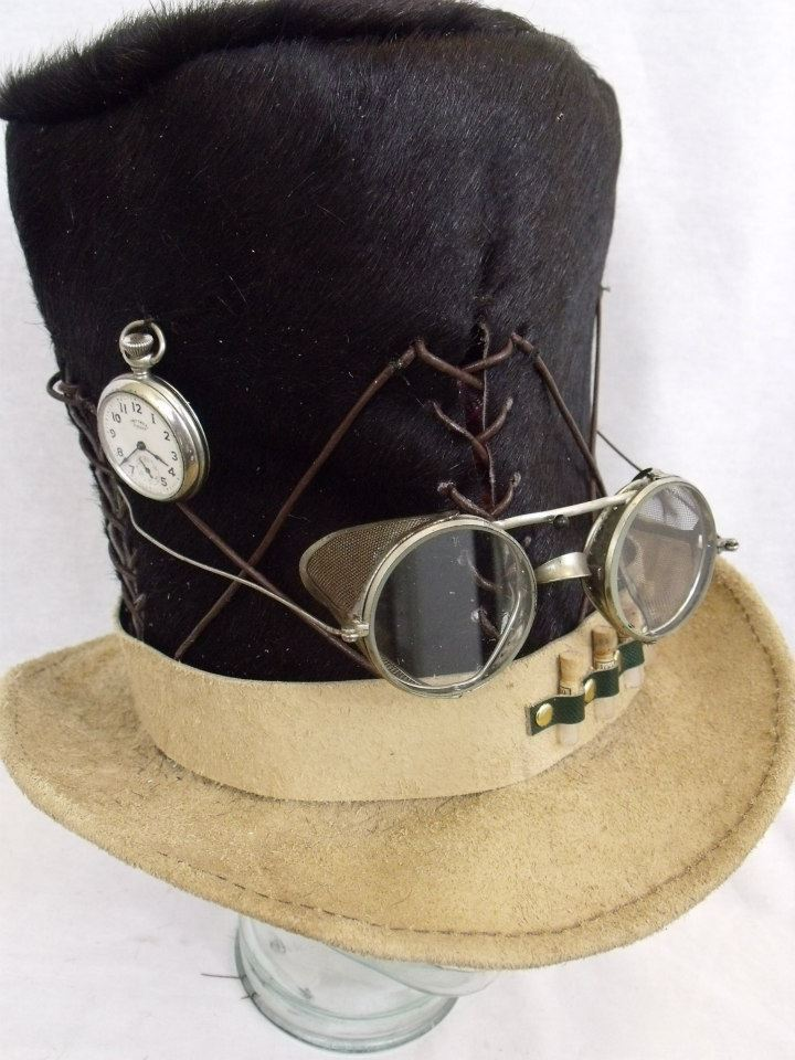 Bekend Steampunk Fur Top Hat - Reshats &DV12