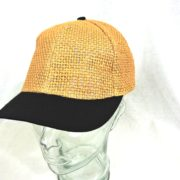 open weave straw black