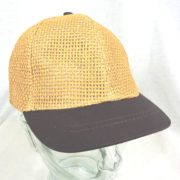 open weave straw brown